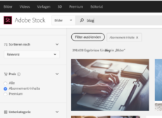 Brauchbare Filter bei der Stocksuche in Adobe Stock