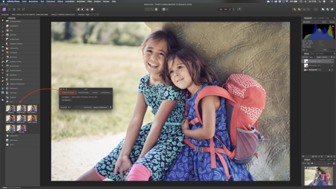 LUTs aus Photoshop in Affinity Photo laden