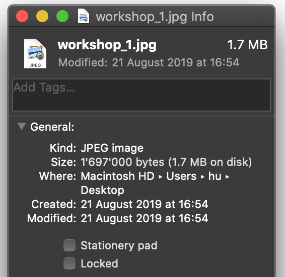 File Info macOS