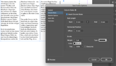 Adobe InDesign 2020 Column Rules