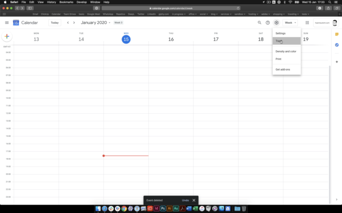 Restore Events Google Calendar