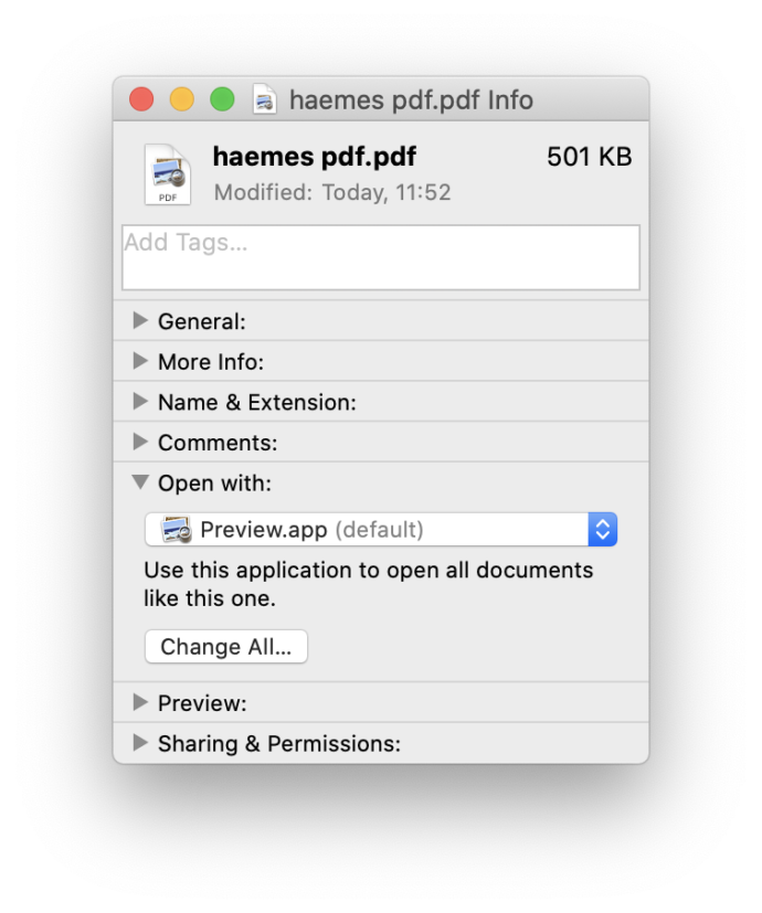 Change the PDF Viewer on macOS