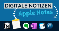 Digitale Notizen - Apple Notes